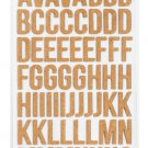 American Crafts Dear Lizzy Thickers Noted - cork letter stickers
