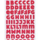 American Crafts thickers Nightfall Collection - Halloween - Foam Alphabet Stickers - Elm - Rust
