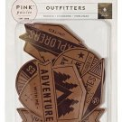 Pink Paislee - Outfitters Collection - Faux Leather Badges