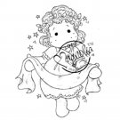 Magnolia Rubber Stamps - Tilda with Banner N12
