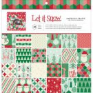 "AMERICAN CRAFTS SINGLE-SIDED PAPER PAD 12""X12"" 48/PKG - let it snow"