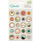 American Crafts - Shimelle Go Now Go Wooden Buttons