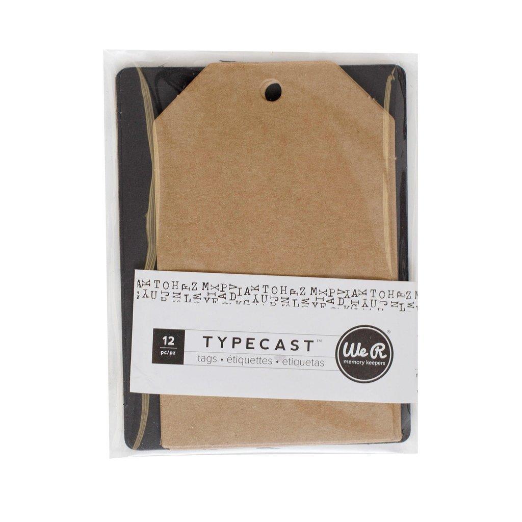We R Memory Keepers - Typecast Tags & Cards - Kraft