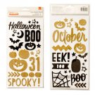 American Crafts- Crate Paper - After Dark Collection - Halloween - Thickers - Glitter Foam - Spooky