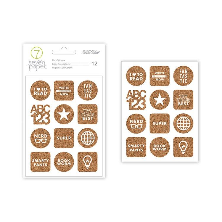 Studio Calico - Seven Paper - Darcy Collection - Cork Stickers