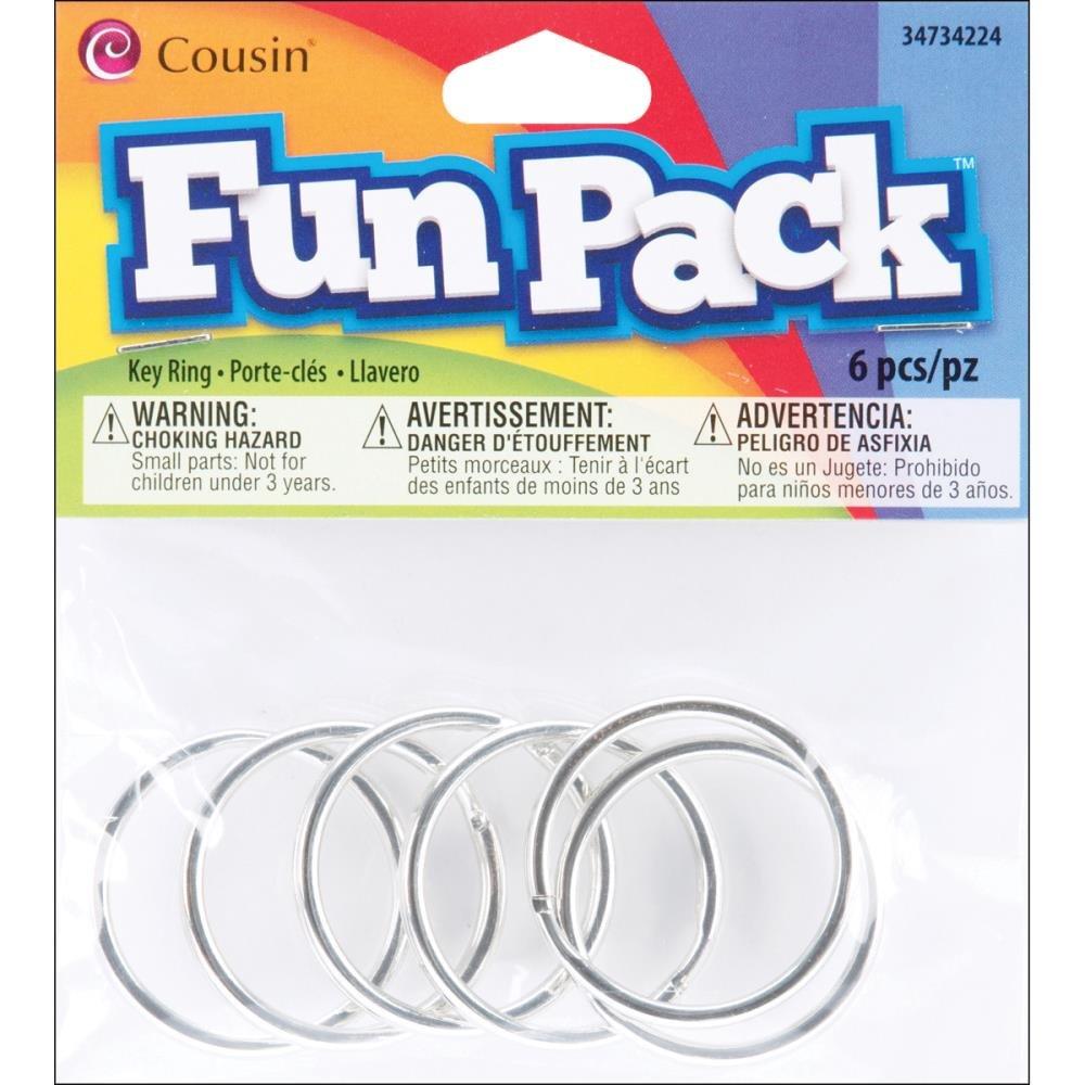 COUSIN-Fun Pack: Key Rings silver