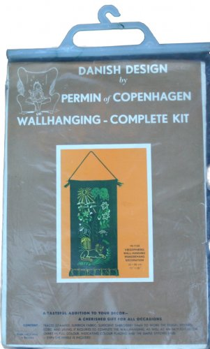 Permin of Copenhagen Tropical Cat Wall Hanging Embroidery Kit 70-1133