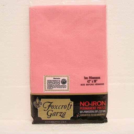 "8 PILLOWCASES - 42"" x 36"" - Polyester & Cotton - Foxcroft Garza - Hot Pink - unused"