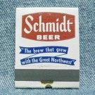 SCHMIDT BEER Matchbook - Jacob Schmidt - St. Paul, MN - front strike