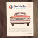 "1965 STUDEBAKER Sales Brochure - 8-1/2"" x 11"" - 10 pages"