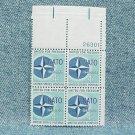 NATO Plate Block - 1959 - 4¢ stamps