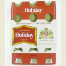 HOLIDAY BEER 6 Bottle Carrier - Holiday Brewing - Potosi, WI - unused