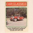 CAR CLASSICS Magazine - June 1975 - Duesenberg GM Nash Chrysler Buick