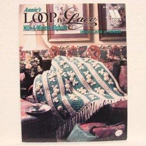 ANNIE'S LOOP-n-LACE Mile A Minute Afghans - Irish Lace & Roses - Annie's Attic #843A