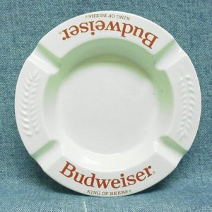 BUDWEISER KING OF BEERS Ashtray - Ceramic - Round