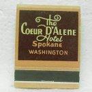 The COEUR D'ALENE HOTEL Matchbook - Spokane, WA - Donkey Room - Front strike