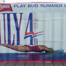 BUDWEISER BEER 1992 Summer Olympics vinyl banner - 5' x 3'