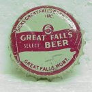 6 GREAT FALLS SELECT Bottle Cap - Sicks' Great Falls Breweries - Great Falls, MT - cork lined