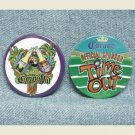 "2 CORONA Beer Pinbacks - CoronaVal & Time Out - 2-1/2"""