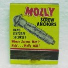 MOLLY SCREW ANCHORS Matchbook - front strike - Molly Corp. - Reading, PA
