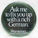"WARSTEINER Beer Pin - German - 3"" Round - Metal"
