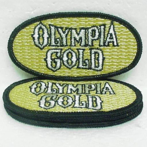 5 OLYMPIA GOLD Beer Embroidered Patch - Small - Oly Olympia