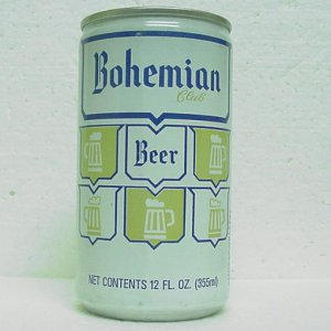 BOHEMIAN CLUB BEER Can - Brewing Co. of Oregon - Portland, OR - StaTab - alum.