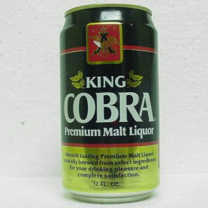 KING COBRA Premium Malt Liquor Can - Anheuser-Busch - St. Louis, MO - Aluminum StaTab