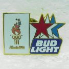 BUD LIGHT Olympic Pin Pinback - Enameled - Atlanta 1996