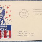 THEODORE ROOSEVELT 6¢ First Day Cover w/ cachet - 1955