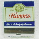 HAMM'S BEER Matchbook - Front strike - Theodore Hamm Brewing - 3 cities