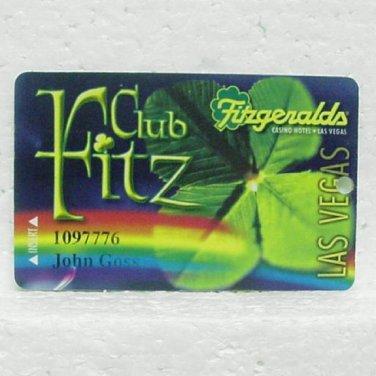 FITZGERALDS CASINO Players Club Card - Club Fitz - Las Vegas, NV