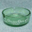 GOLDEN GATE Casino Ashtray - Round glass - Fremont St. Las Vegas, NV
