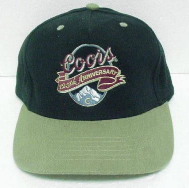 COORS BEER Baseball Cap 125th ANNIVERSARY - One Size Fits All - Embroidered logo