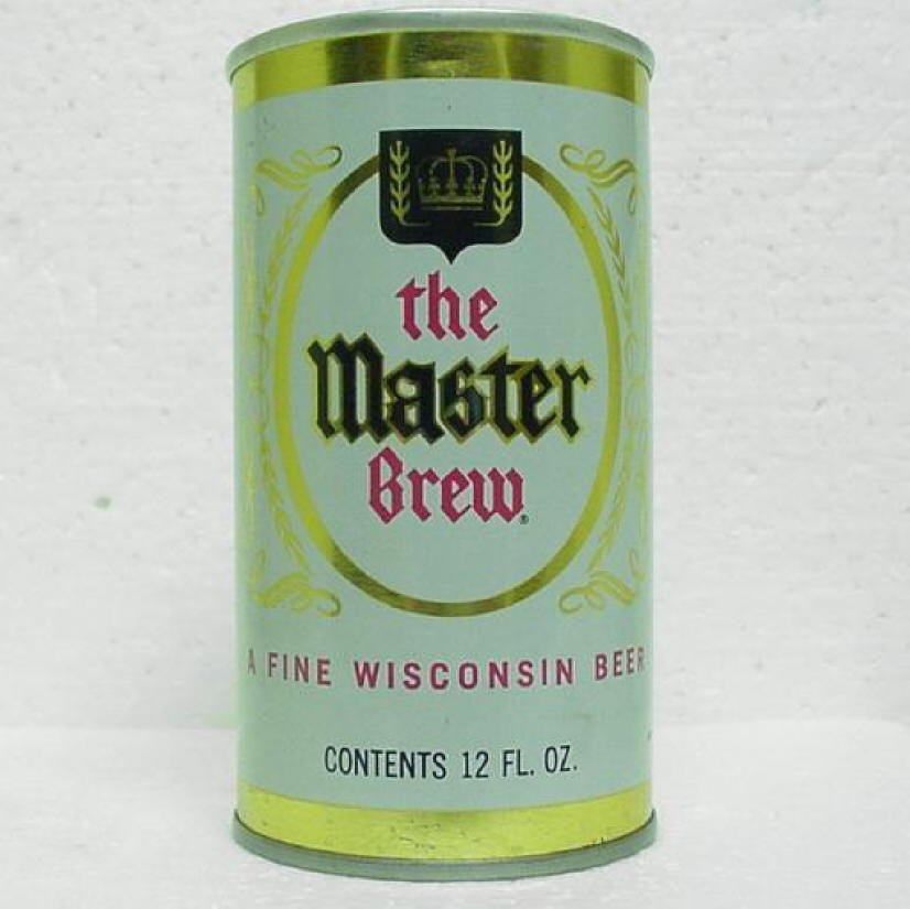 Master brew beer can walter brewing co eau claire wi for Jewelry stores in eau claire wi