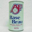 BASE BRAU BEER Can - Stevens Point Brewery Stevens Point, WI - 1978 - Straight Steel - Pull tab