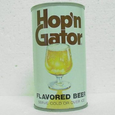 HOP'N GATOR Flavored Beer Can - Pittsburgh Brewing Co. Pittsburgh, PA - Straight Steel - Pull tab