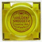 GOLDEN NUGGET GAMBLING HALL Ashtray - Las Vegas, NV - glass
