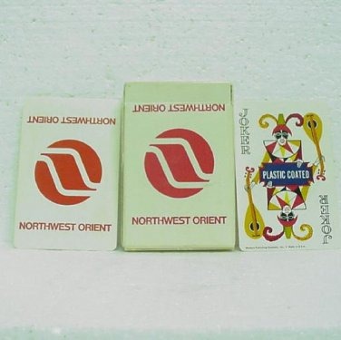 NORTHWEST ORIENT Airline Playing Cards - used