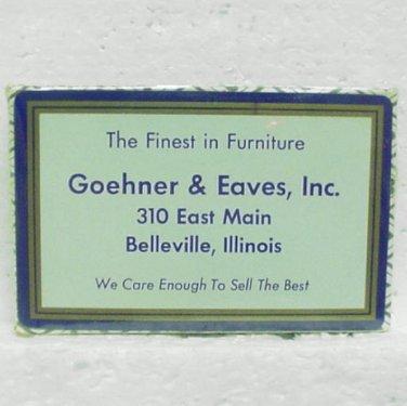GOEHNER & EAVES, INC. Playing Cards - Belleville, IL - Bridge Size - Unused