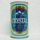 CRYSTAL COLORADO BEER Can - Walter Brewing Co. - Pueblo, CO - pull tab - straight steel