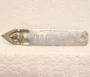 OLD CROWN ALE BEER Can Opener - Old Crown Brewing Corp. - Fort Wayne, IN - Flat metal