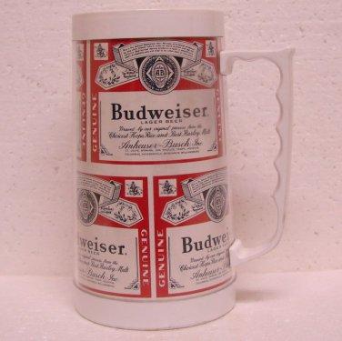 BUDWEISER LAGER BEER Plastic Mug - Anheuser-Busch, Inc. - St. Louis, MO - Bud Beer labels