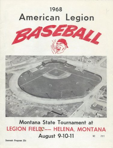 AMERICAN LEGION BASEBALL Programs - 1968 & 1969 - Montana State Tournament - Helena, MT