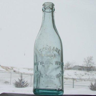SPOKANE SODA BOTTLING WORKS Embossed Glass Soda Bottle - Spokane, WA