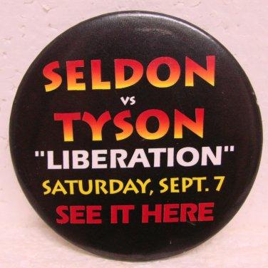 MIKE TYSON & BRUCE SELDON Heavyweight Title Fight Pinback - Sept. 7, 1996 - Boxing