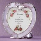 Heart Shaped Plaque Candle Holder For Grandma Glass Tealights