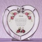 Heart Shaped Plaque Candle Holder For Mom Glass Tealights