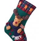 Plush Rudolph Christmas Stocking