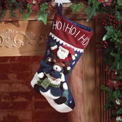 Christmas Friends Plush Stocking